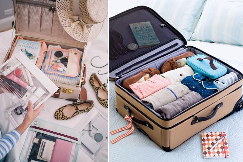 como organizar sua viagem mala organizada