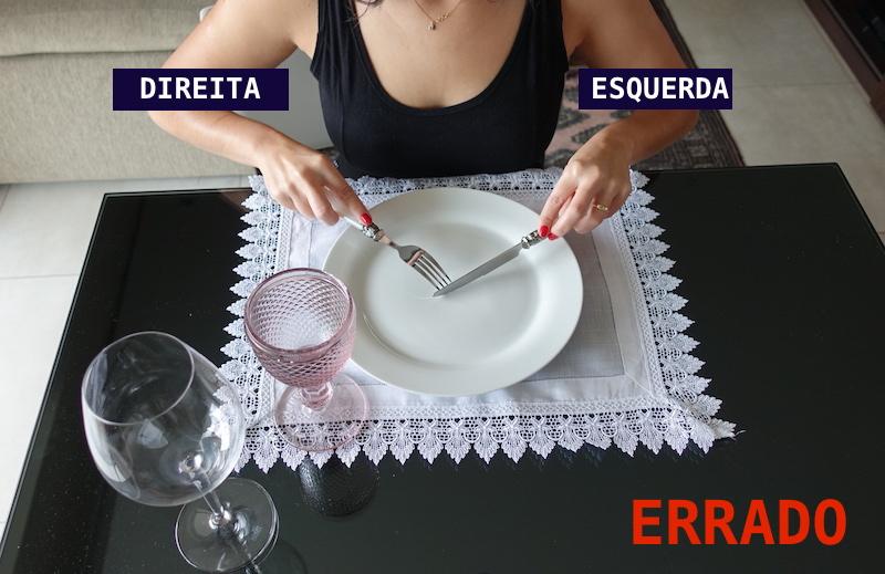 como usar a faca etiqueta