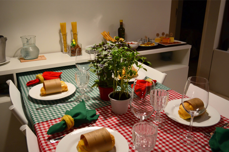 jantar italiano da Evelin