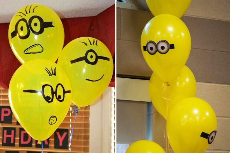 decoracao de festa infantil minions baloes