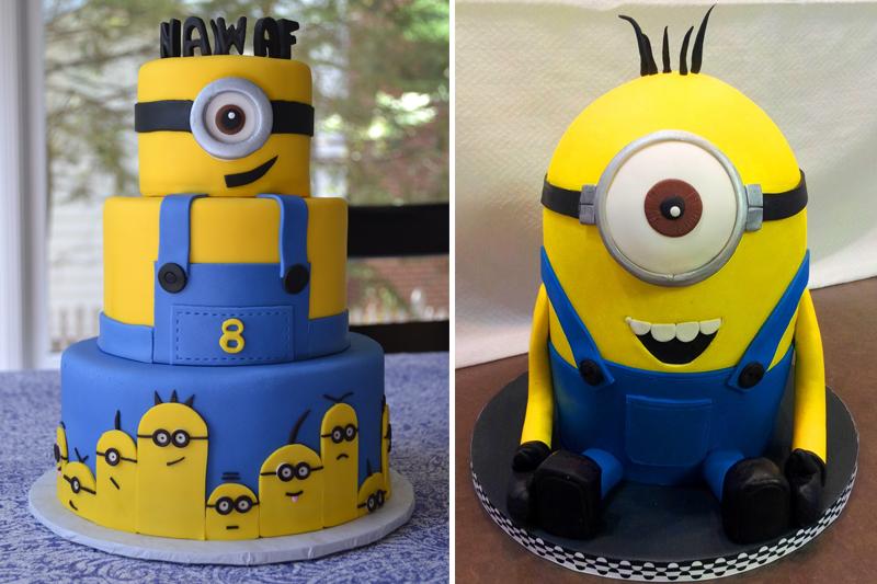 decoracao de festa infantil minions bolos de minions