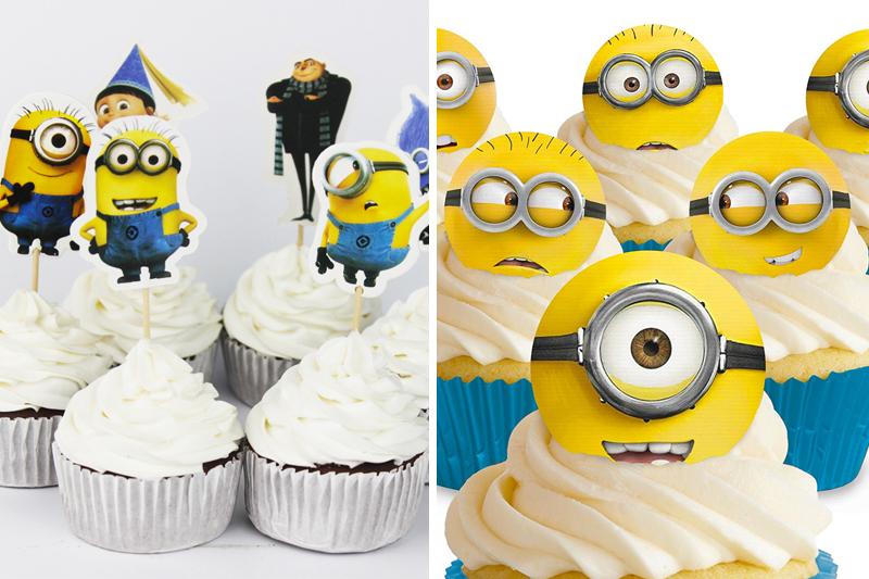 decoracao de festa infantil minions cupcakes personalizados