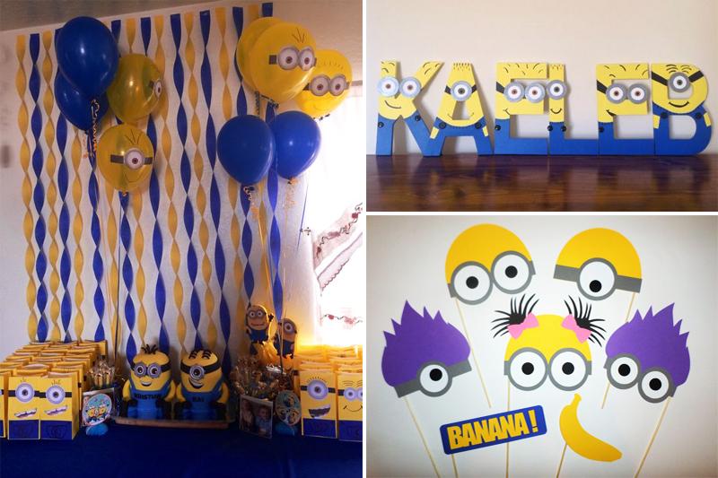 ideias decoracao de minion para festa infantil