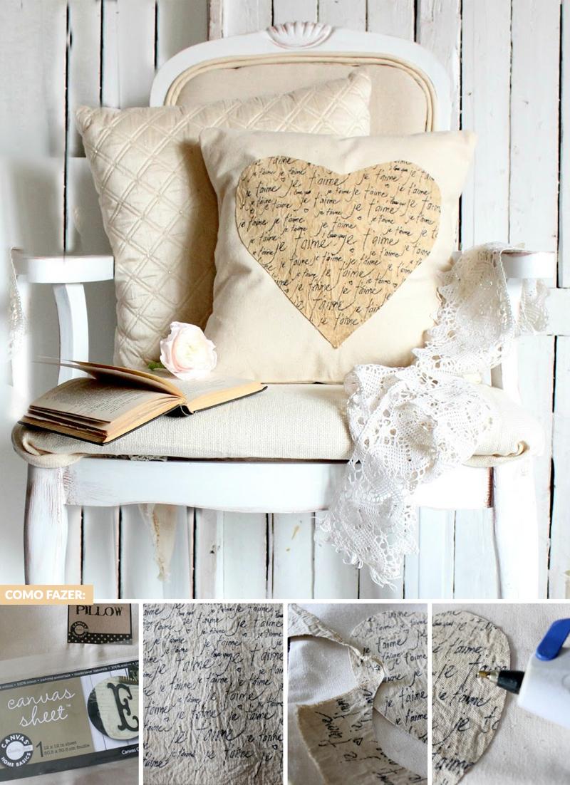 decoracao de quarto romantica diy almofada