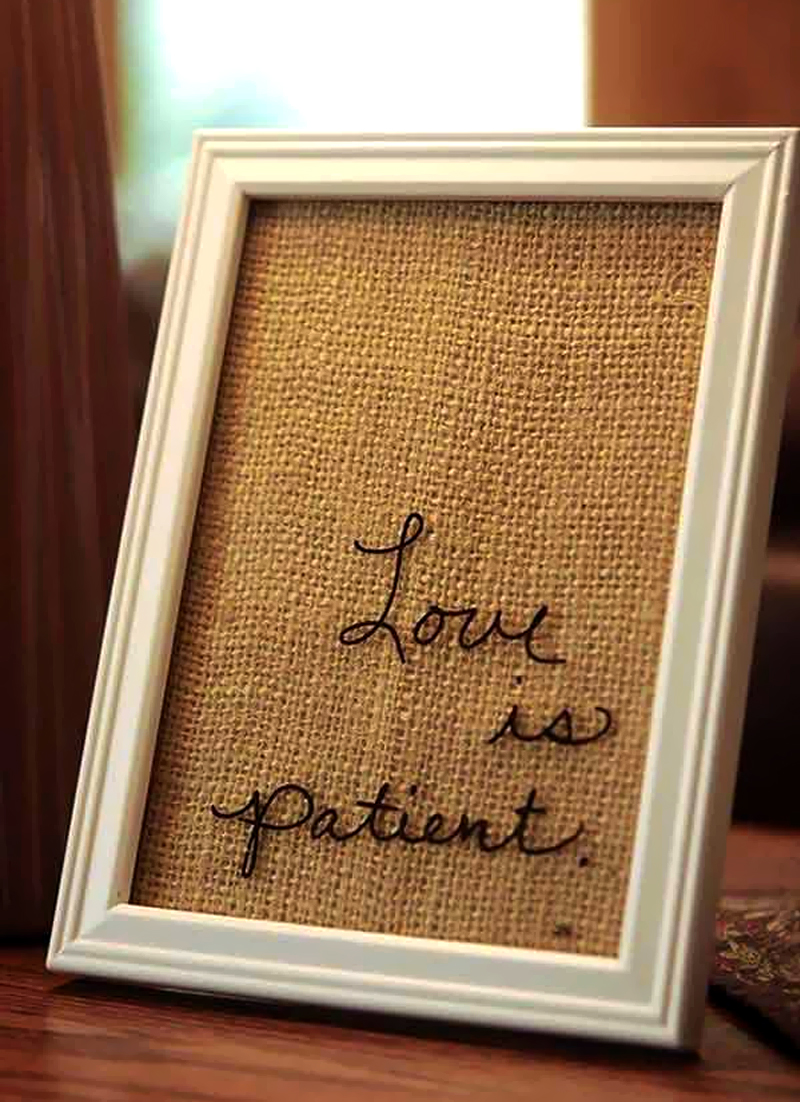 decoracao de quarto romantica diy quadro com mensagem