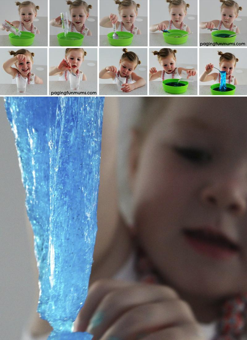 diy amoeba brilhante para festa tematica de Frozen