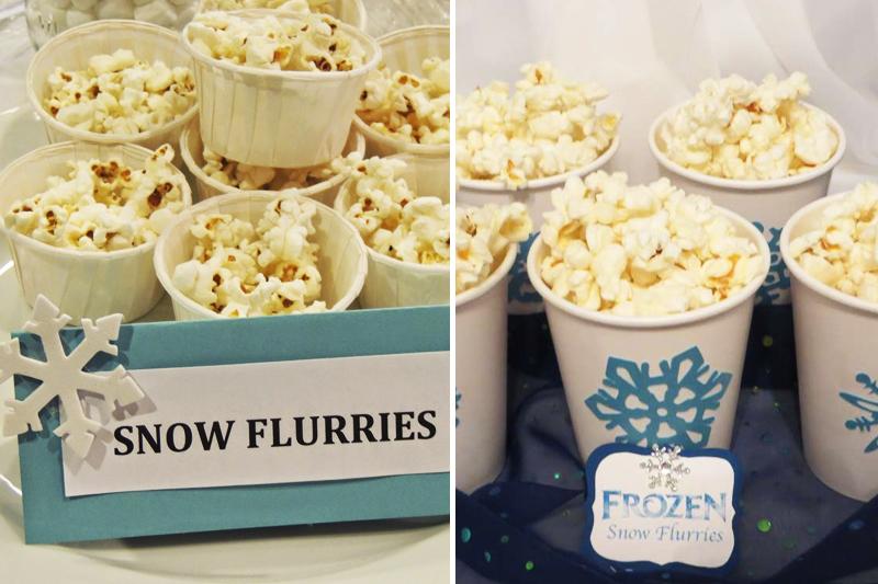 ideias de comidas tematicas para festa Frozen