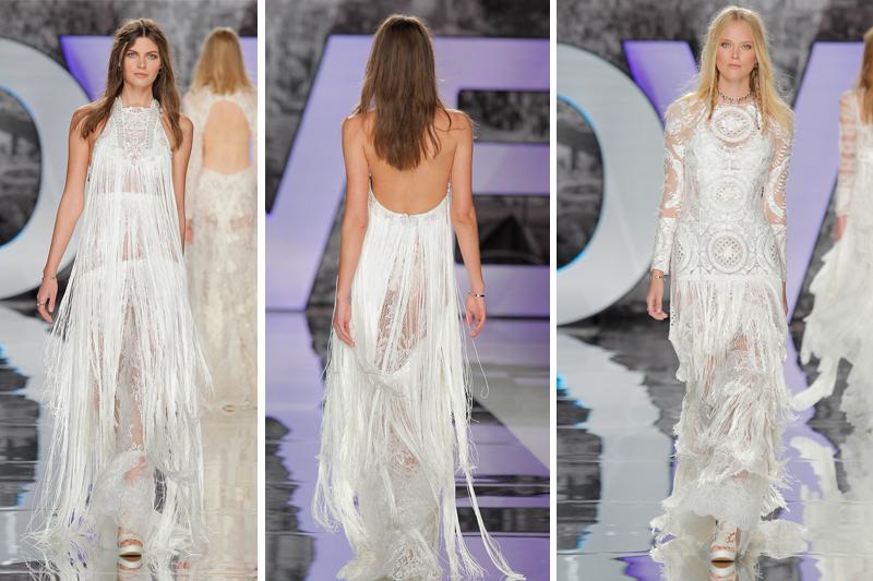 vestido de noiva tendencias franjas