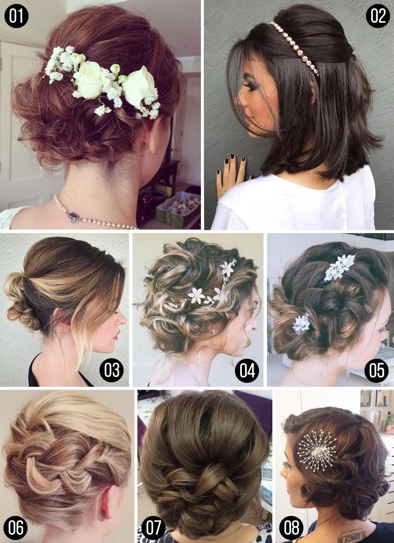 penteados para cabelos curto com acessorios