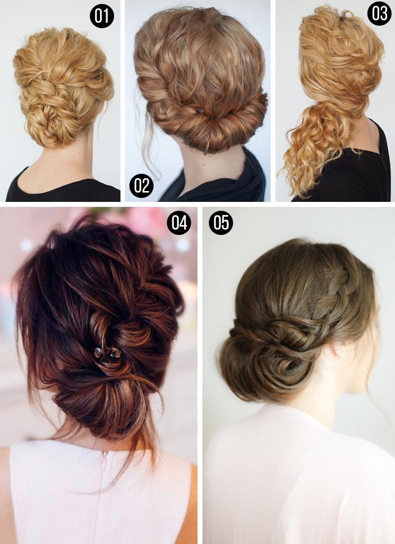 penteados para madrinhas coques