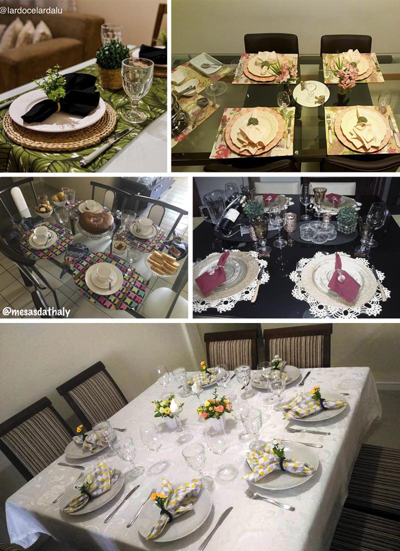 decorações de mesa alunas do curso receber em casa e etiqueta a mesa
