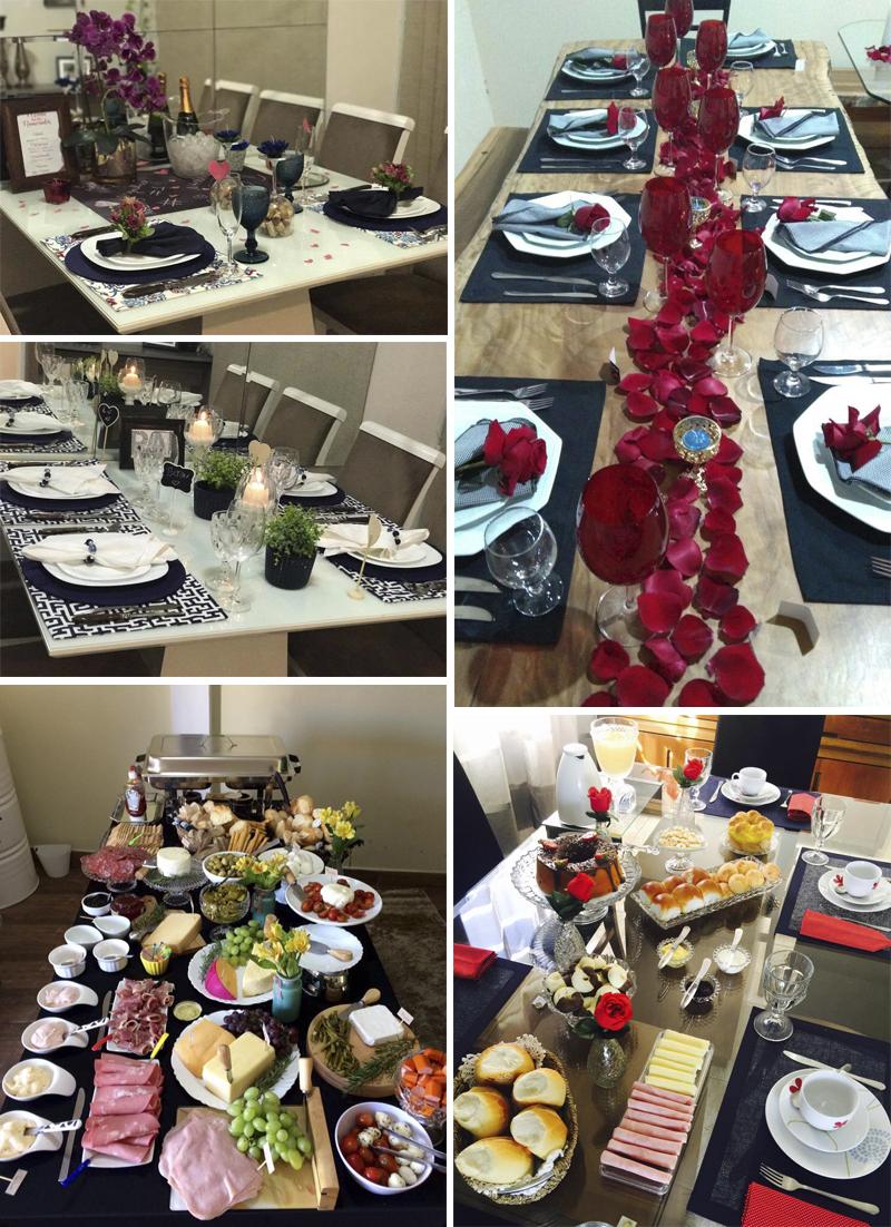 mesas de alunas do curso receber em casa e etiqueta a mesa