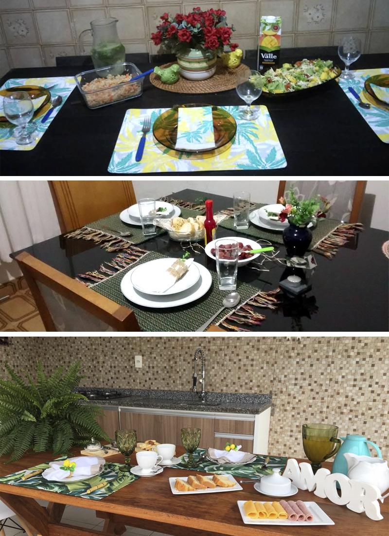 recepcoes de alunas do curso receber em casa e etiqueta a mesa