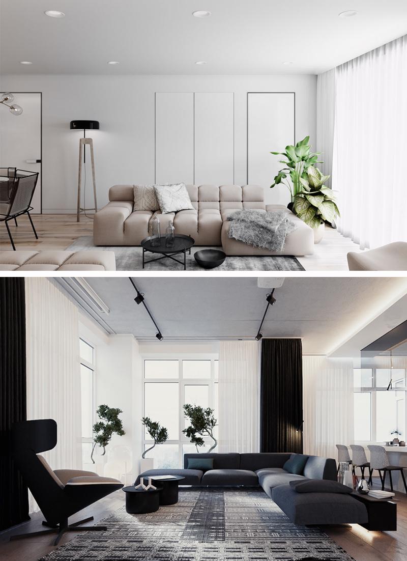 decoracao minimalista para sala de estar ideias
