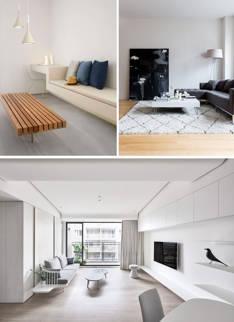 decoracao minimalista para sala de estar inspiracoes