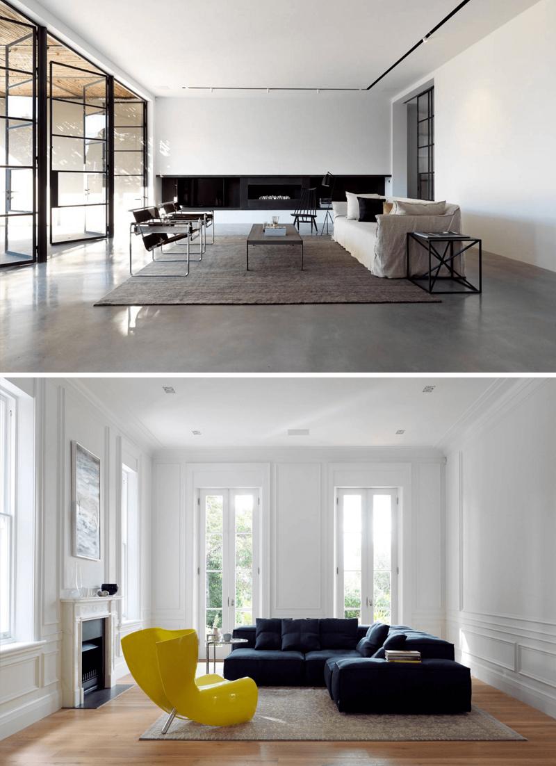 decoracao minimalista para sala de estar