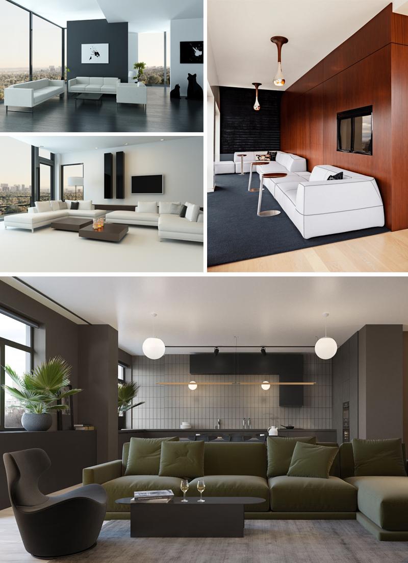 decoracao minimalista sala de estar inspiracoes