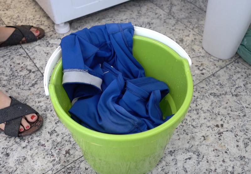 Roupas de academia lavar