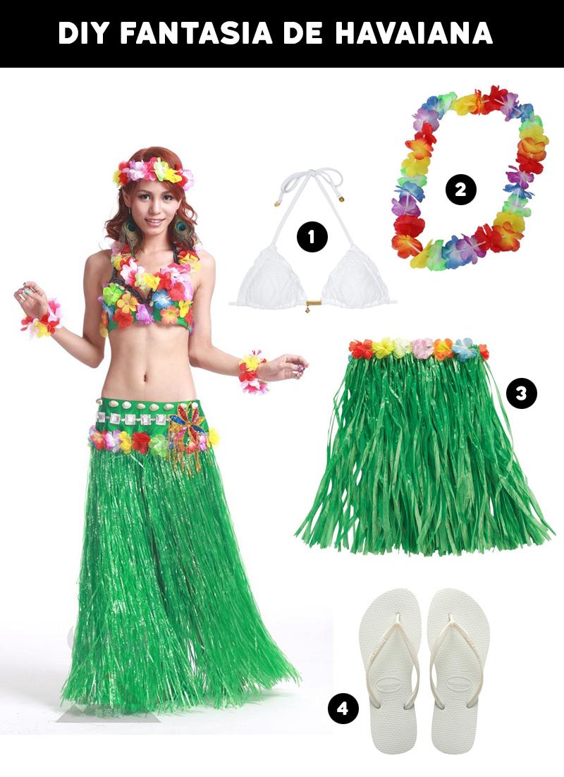 Fantasias para o Carnaval DIY Fantasia Havaiana