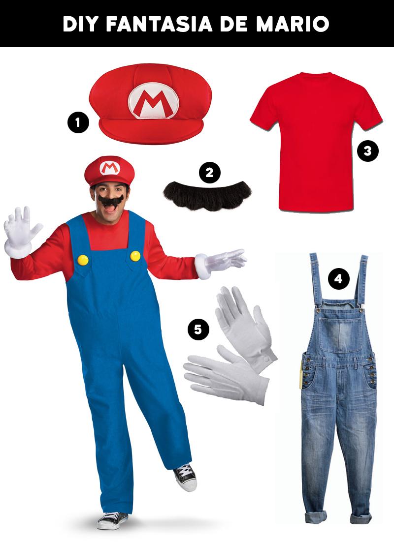 Fantasias para o Carnaval DIY Fantasia Mario