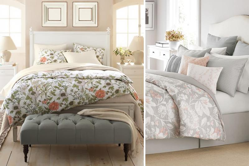 mantas florais para um quarto mais feminino