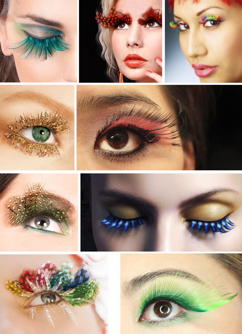 maquiagem para carnaval com cilios posticos diferentes