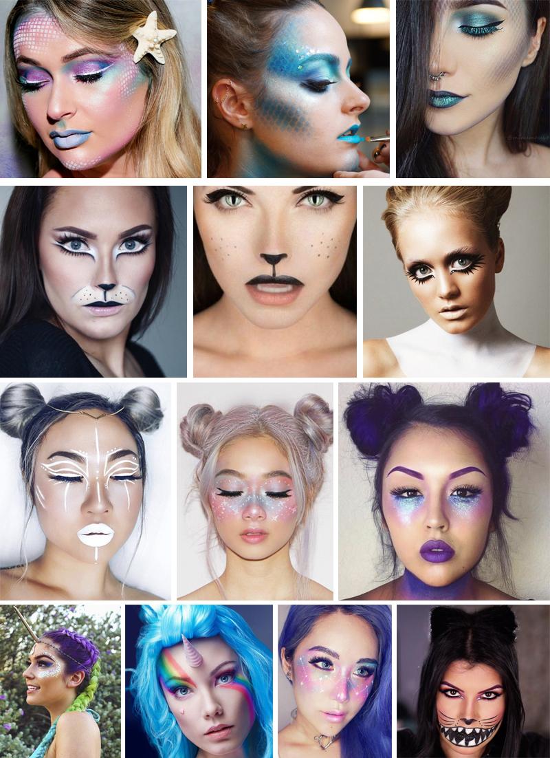 maquiagem para carnaval tematica para rosto inteiro