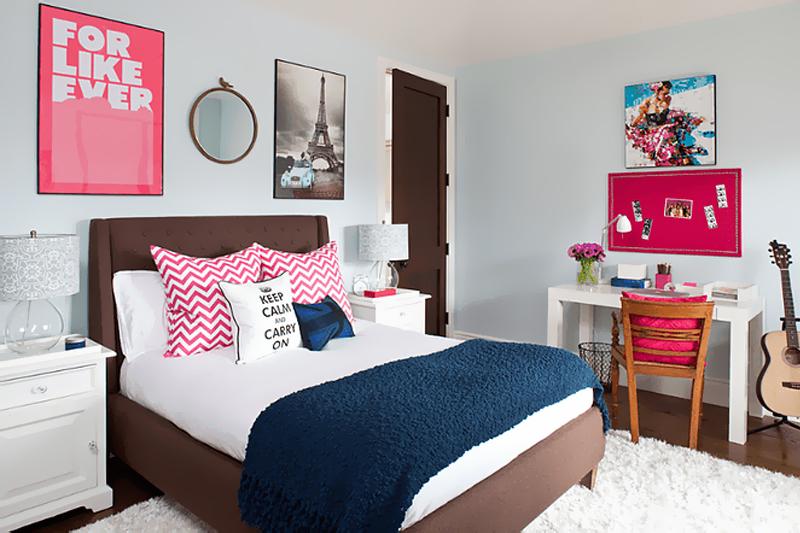 quarto feminino com decoracao moderna