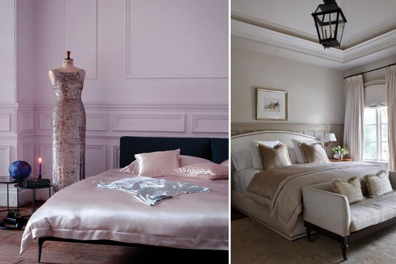 quartos com materiais delicados e femininos