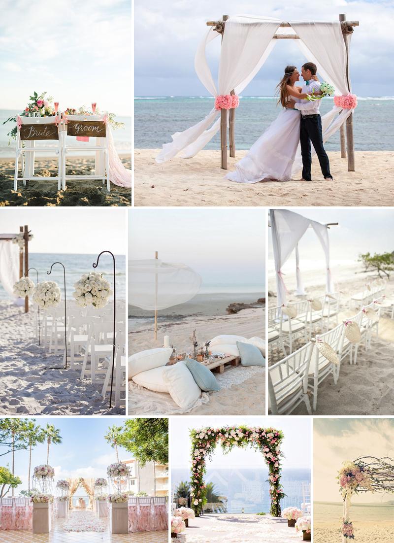 decoracao de casamento na praia ao ar livre