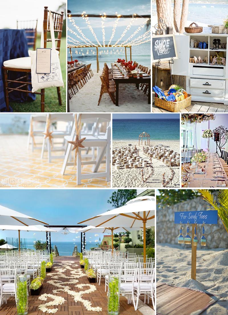 decoracao de casamento na praia
