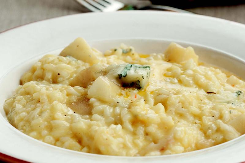 risoto de gorgonzola e pera