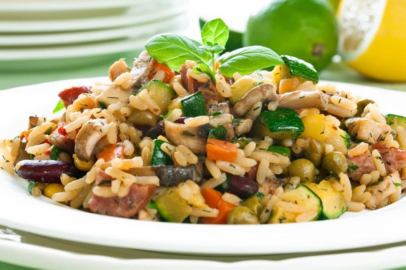 risoto de legumes