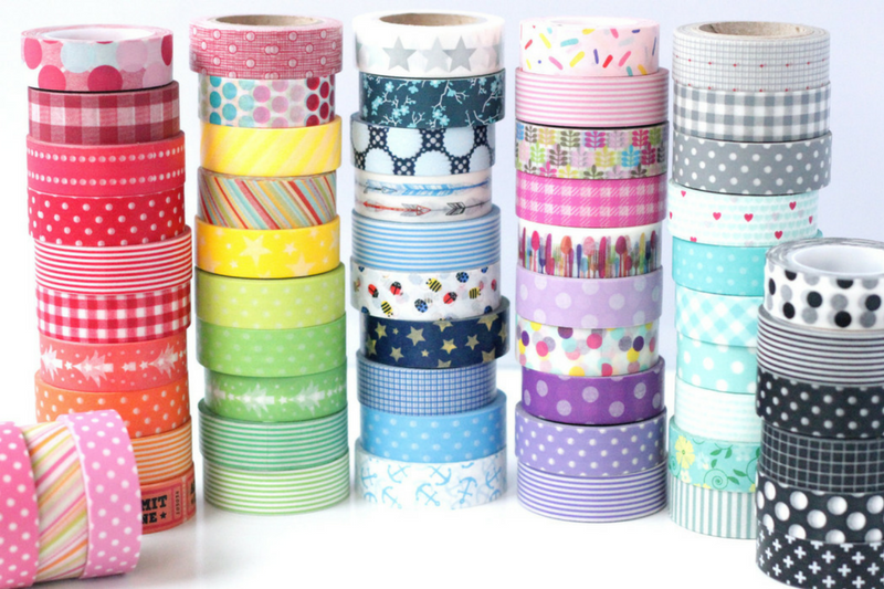 Materiais para decorar planner washi tapes