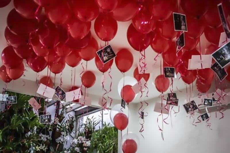 baloes com fotos decoracao de dia dos namorados
