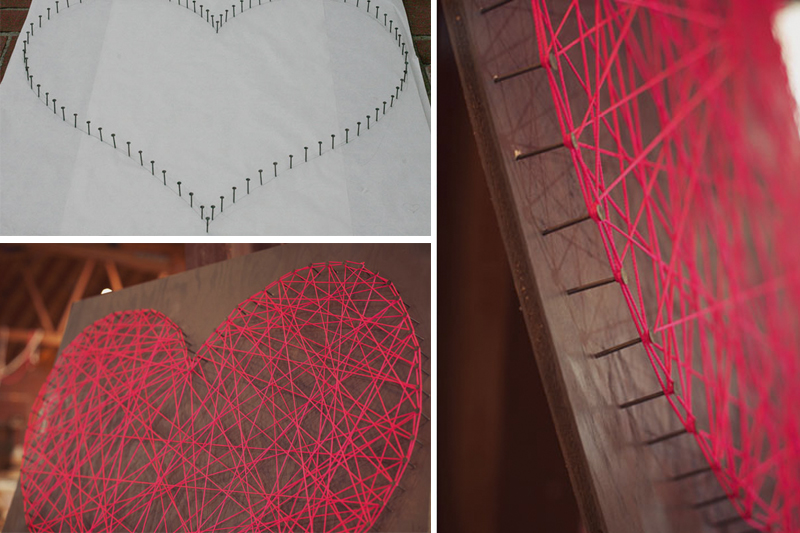 coracao de linhas decoracao de dia dos namorados