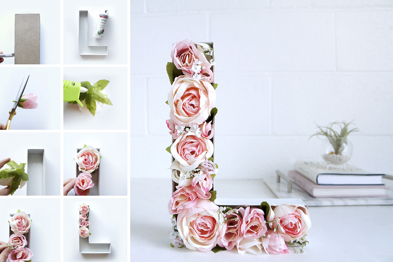 letra com flores decoracao de dia dos namorados