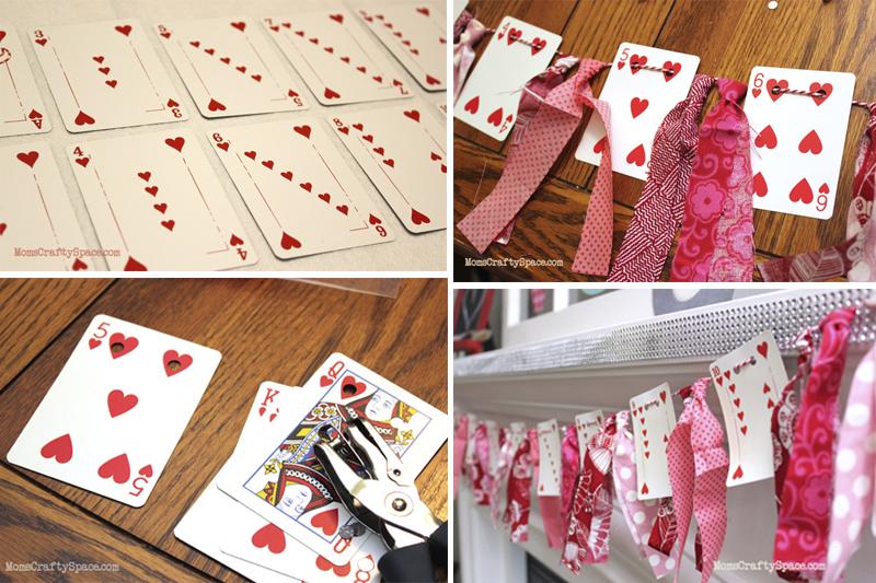 ornamento com cartas decoracao de dia dos namorados