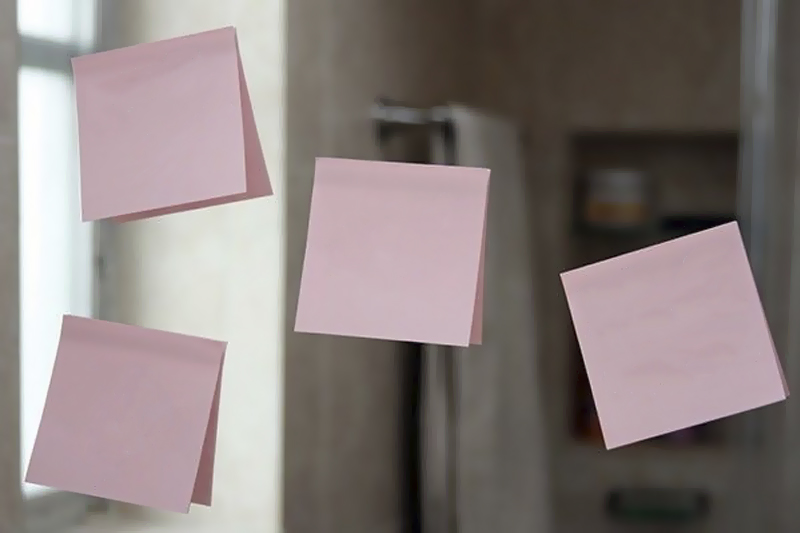 surpresa com post-its