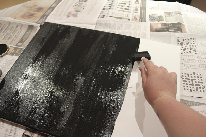 diy quadro negro