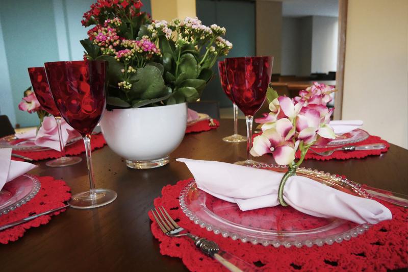 como decorar mesa redonda