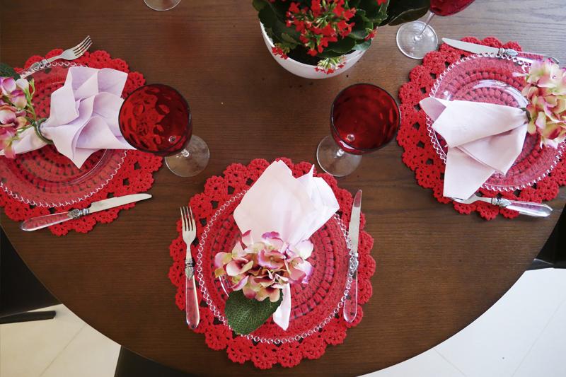 decoracao de mesa redonda