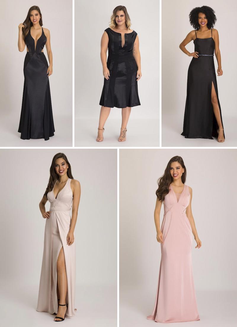 vestidos de festa pretos e rosas