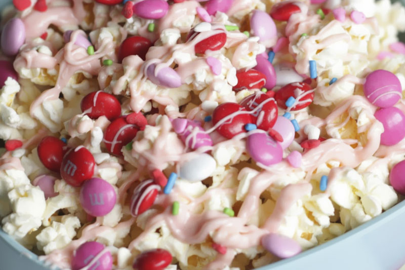 pipoca doce com cobertura