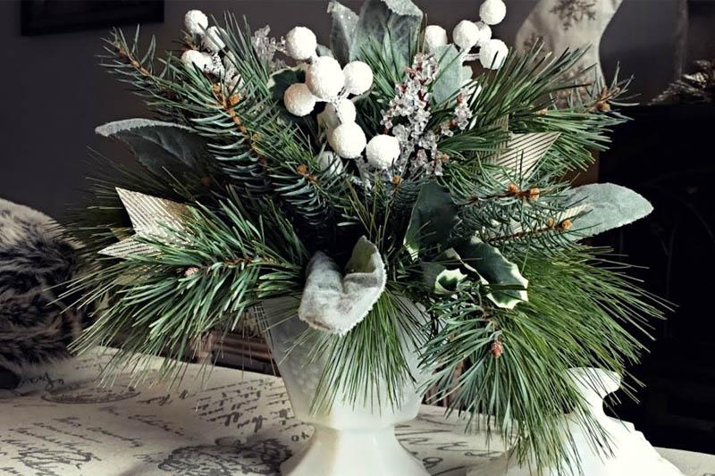 Arranjo de Natal Branco