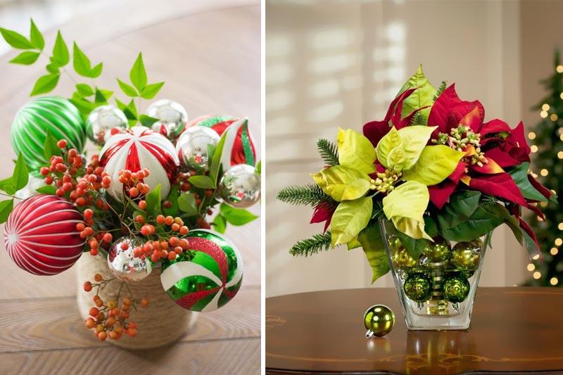 Adornos e Flores de Natal