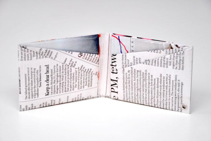 carteira de papel presente criativo