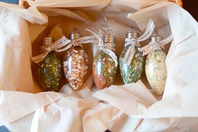 ornamentos com temperos presente criativo