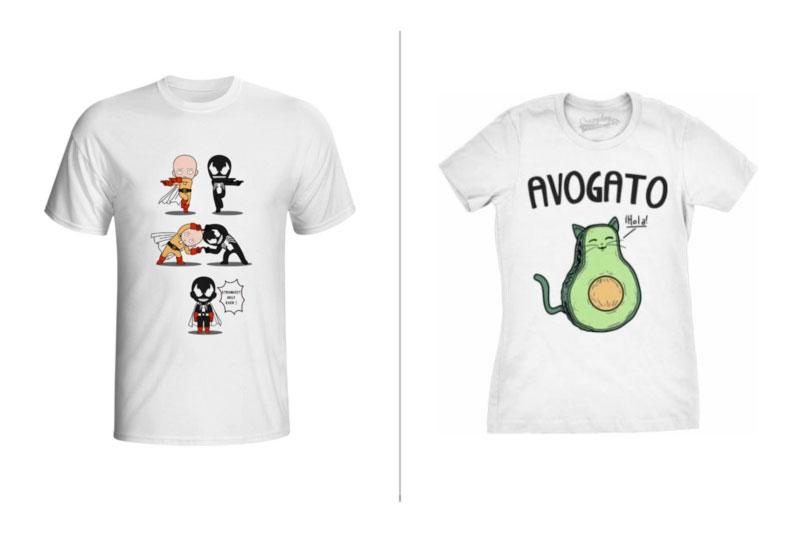 camisetas criativas para presente