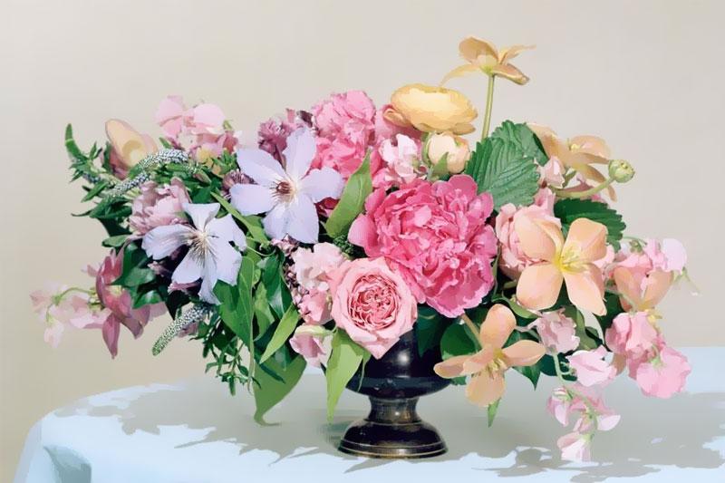 arranjo de flores colorido